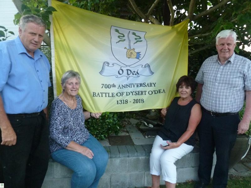 The Flag in NZ - Chris O'Dea, Noleen Dwyer (nee O'Dea), Gill O'Dea, Gavin O'Dea - December 2017