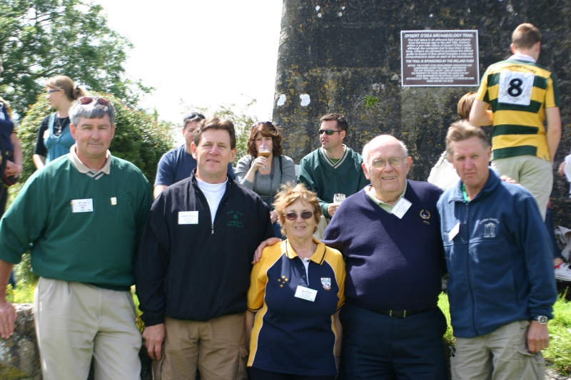 Current Clan Chieftan and previous Clan Chieftans at the O'Dea Castle, Dysert O'Dea, County Clare