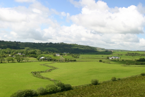 View from the roof of the O'Dea Castle, Dysert O'Dea, County Clare