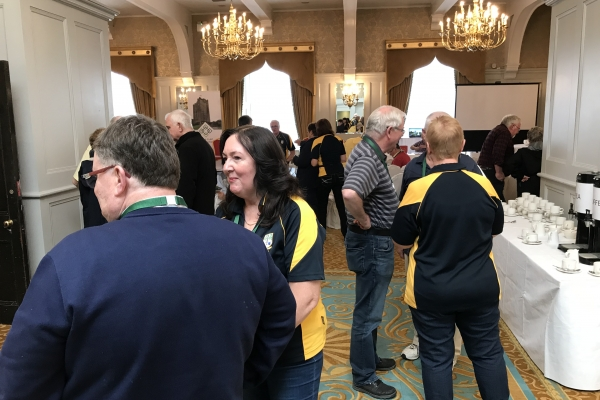 Clan Members checking in at the Registration Desk for the Clan Gathering - 10 May 2018