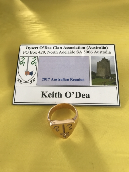 Ring with the O'Dea Crest