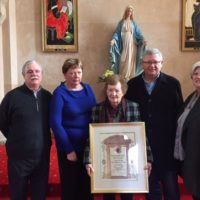 Papal Blessing for Mary McMahon (née O'Dea)