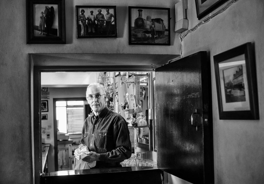 Publican John O Dea in his bar at O Connell street, Ennis. Photograph by John Kelly.