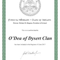 The Dysert O'Dea Clan is Registered with the Clans of Ireland