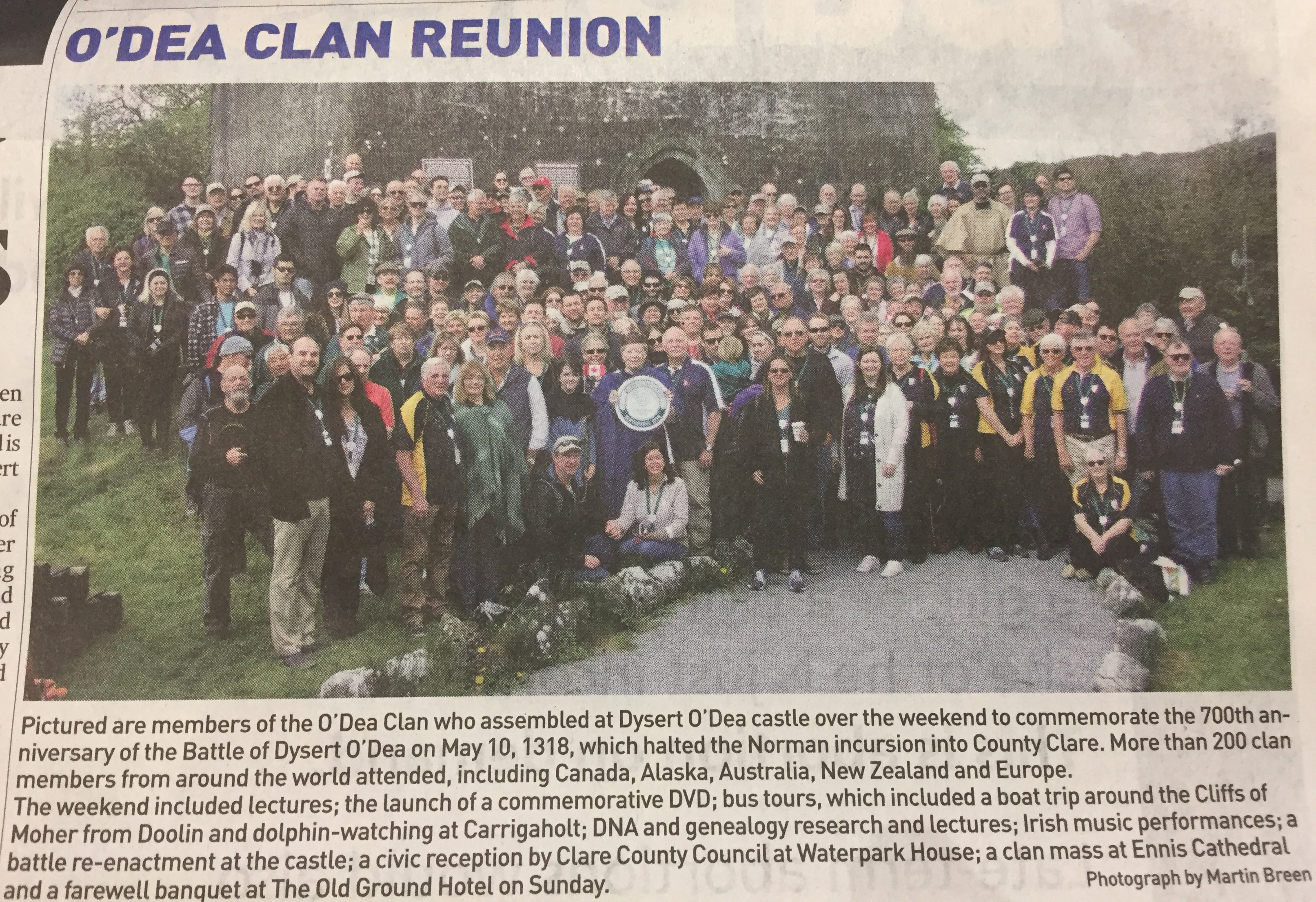 O'Dea Clan Reunion - News Report