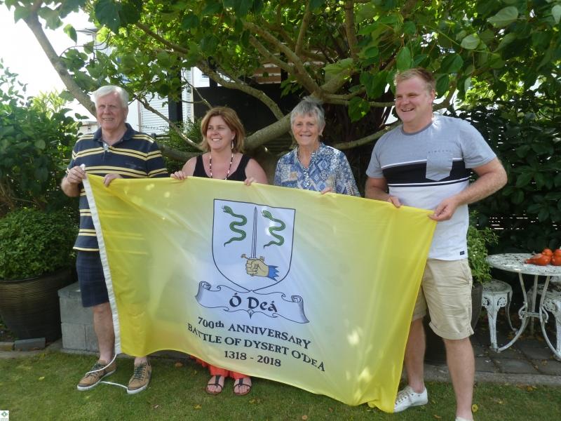 The Flag in NZ - Gavin O'Dea, Analieje Maycock (nee O'Dea), Noleen Dwyer, Mark O'Dea - December 2017