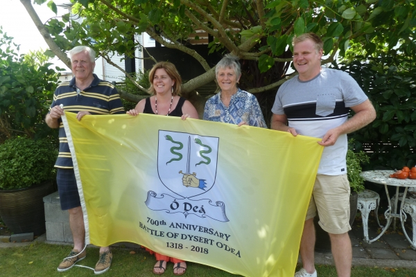 The Flag in NZ - Gavin O'Dea, Analieje Maycock (nee O'Dea), Noleen Dwyer, Mark O'Dea - December 2017
