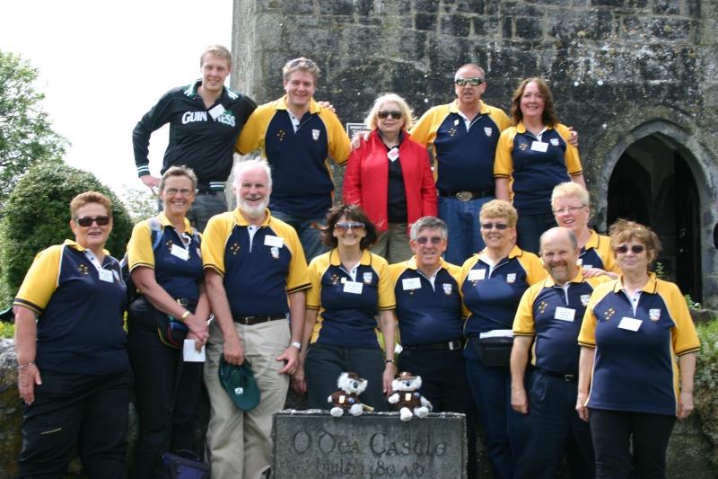Australian Clan Members at the O'Dea Castle, Dysert O'Dea, County Clare