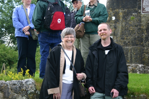 Clan Members at the O'Dea Castle, Dysert O'Dea, County Clare