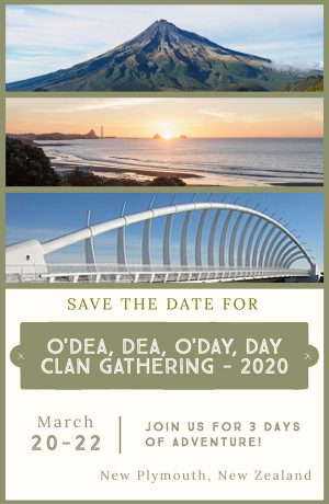 Save the Date - Clan Gathering in New Plymouth, New Zealand - March 2020